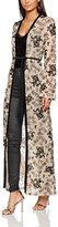 Jaded London Women's Flocked Mesh Maxi Kimono Jacket