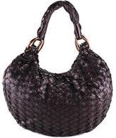 Miu Miu Purple Woven Leather Medium Intreccio Hobo Handbag MHL