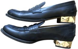 Valentino Rockstud Black Leather Flats