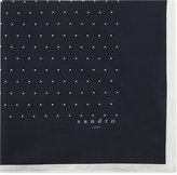 Sandro Dotted Silk Pocket Square