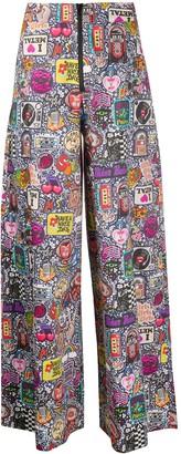 Ultràchic Glam Rock Print wide-leg trousers