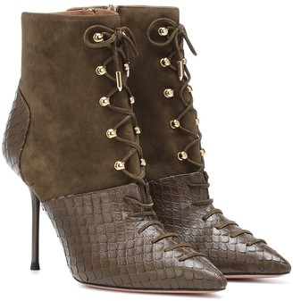 Aquazzura Berlin 95 leather ankle boots