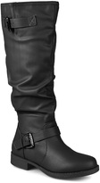 Journee Collection Black Stormy Wide-Calf Boot