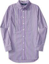Ralph Lauren Striped Cotton Poplin Tunic