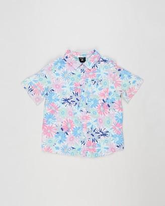 Cotton On Boy's Blue Printed Shirts X Kip & Co. Resort Short Sleeve Shirt - Kids - Size 5 YRS at The Iconic