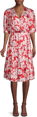 Rebecca Minkoff Floral-Print Faux Wrap Dress