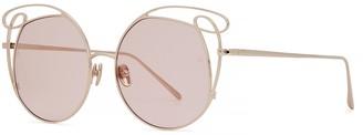 Linda Farrow Luxe 852 C5 Zazel Cat-eye Sunglasses