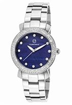 Cabochon Women's 16604-33 Carmel Analog Display Quartz Silver Watch