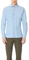 Z Zegna Diego Slim Fit Chambray Shirt