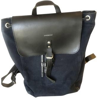 SANDQVIST Navy Cotton Backpacks