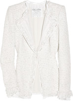 Oscar de la Renta Tweed and broderie anglaise jacket