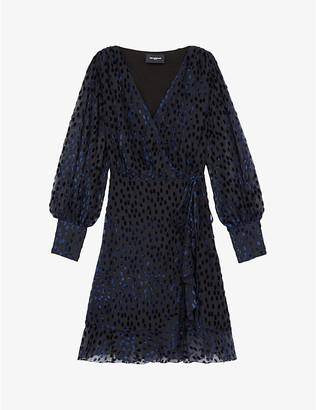 The Kooples Polka-dot devore velvet mini dress