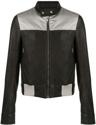 Rick Owens Glitter panelled leather jacket