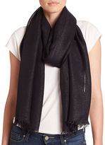 Lord & Taylor Shimmer Frayed Scarf