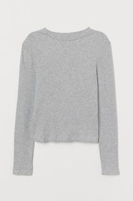H&M Ribbed Top - Gray