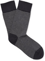 John Smedley - Hera Striped Cotton-blend Socks