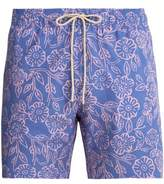 Faherty Beacon poppy-print swim shorts