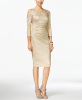 INC International Concepts Metallic Cold-Shoulder Sheath Dress, Only at Macy's