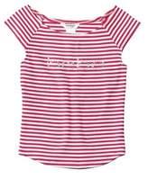 Bebe Girls' Striped Logo Top.