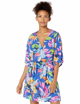 La Blanca Women's Kimono Short Sleeve Dress Swim Cover-Up