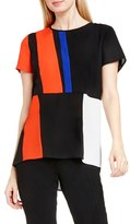 Vince Camuto Colorblock Panel Blouse