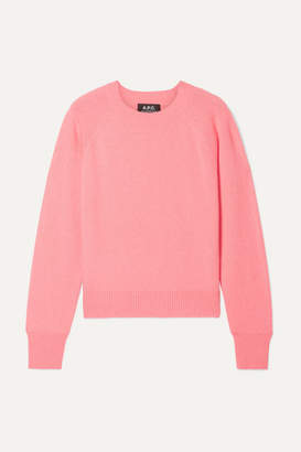 A.P.C. Stirling Cashmere Sweater - Coral