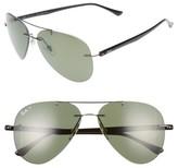 Ray-Ban Men's 59Mm Polarized Aviator Sunglasses - Gunmetal/ Green