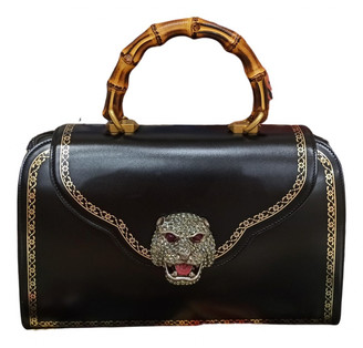 Gucci Animalier Black Leather Handbags