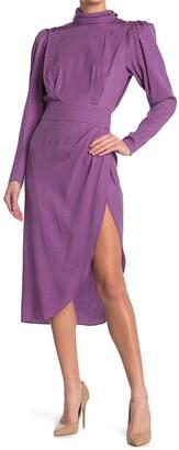Ronny Kobo Kaira Turtleneck Wrap Skirt Dress