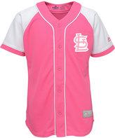 Majestic Girls' St. Louis Cardinals Pink Fashion Jersey