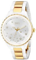 Jivago Women's JV2416 Sky Analog Display Swiss Quartz Two Tone Watch