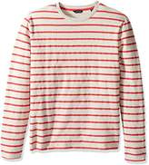 Nautica Men's Long Sleeve Striped Crew Neck Shirt