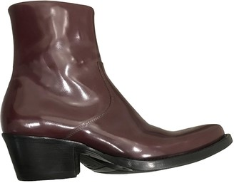 Calvin Klein Burgundy Patent leather Boots