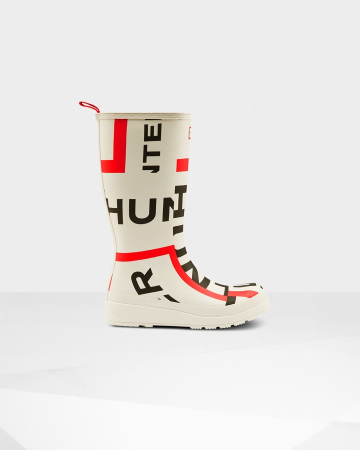 Hunter Women's Original Play Tall Exploded Logo Wellington Boots