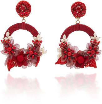 Ranjana Khan Mariah Pearl, Crystal and Beaded Earrings