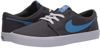 Nike SB Portmore II Solar Canvas (Iron Grey/University Blue/White/Black) Men's Skate Shoes