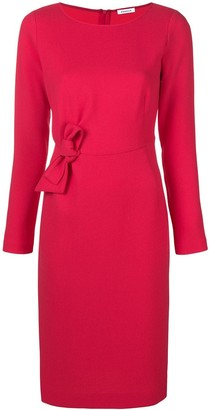 P.A.R.O.S.H. bow front fitted dress