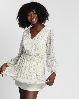 Cotton On Woven Lexia Long Sleeve Mini Dress