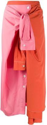 Marni Deconstructed Colour-Block Skirt