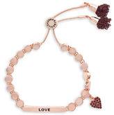 BCBGeneration Pep Rally Rose Goldtone Love Slider Bracelet