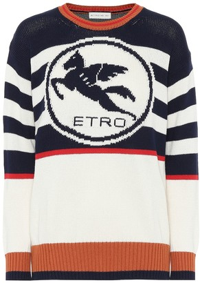 Etro Striped cotton sweater