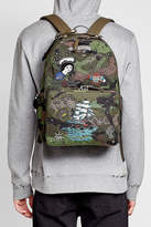 Valentino Embroidered and Embellished Canvas Backpack