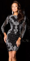 Scala Long Sleeve Sequin Homecoming Dress