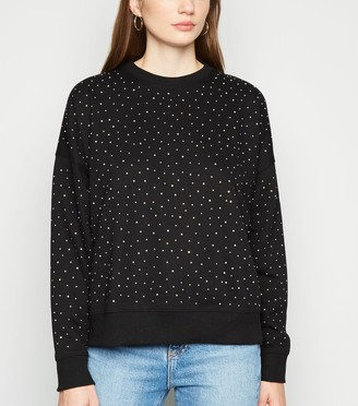 New Look Diamante Embellished Sweatshirt