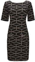 Wallis Geometric Print Zip Dress