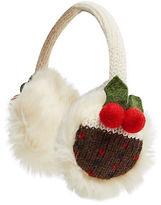 Joe Browns Christmas Pudding Fluffy Earmuffs