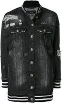Philipp Plein denim bomber jacket