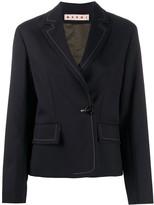 Marni contrast-stitch boxy blazer