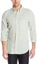 7 For All Mankind Men's Long Sleeve Lightweight Oxford Shirt