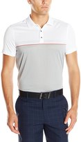 Calvin Klein Men's Performance Engineered Chest Stripe with Body Map Jersey Polo